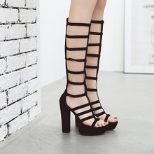 d3e0a67e0 Buy knee high gladiator sandals and get free shipping on AliExpress.com