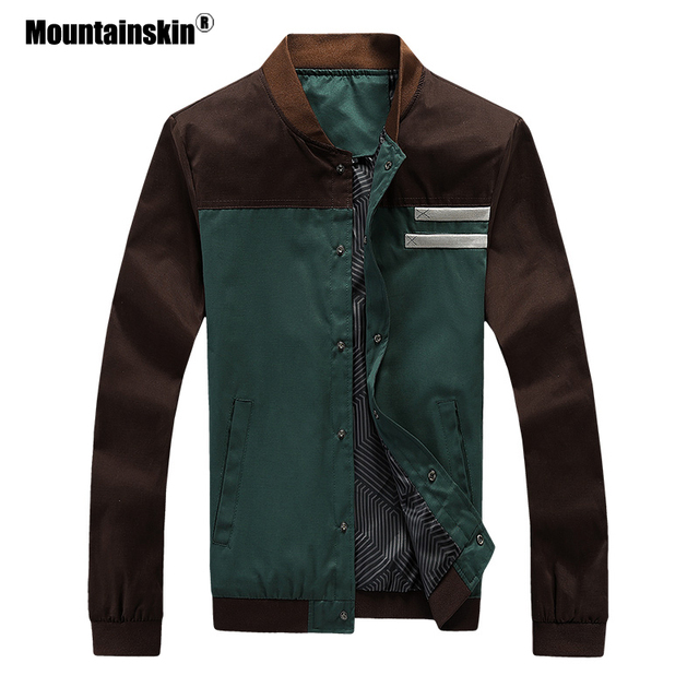 Mountainskin 4XL New Men's Jackets Autumn Military Men's Coats Fashion Slim Casual Jackets Male Outerwear Baseball Uniform SA461 3