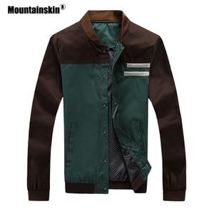 Image 3 - Mountainskin 4XL חדש גברים של מעילי סתיו צבאי גברים של מעילי אופנה מעילים מזדמנים רזים זכר הלבשה עליונה בייסבול אחיד SA461