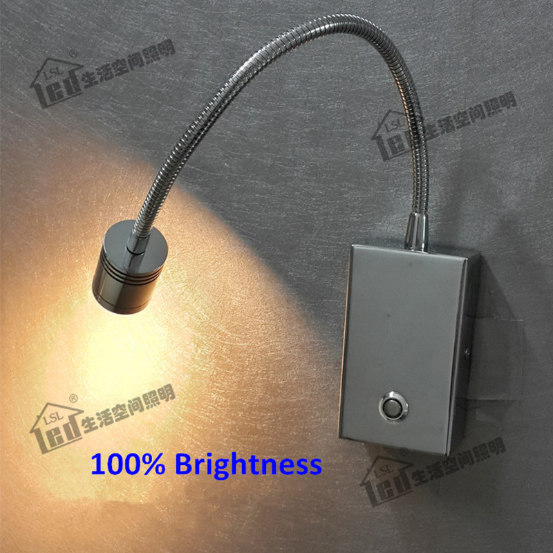 Topoch Dimmable Wall Lamps with Touch on/off/Dimmer Switch Grooved Cylindrical Head Focusing Lens 30deg. for House Camper Boat garden hose