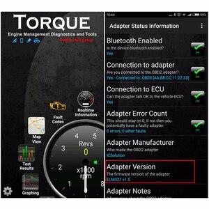 Image 5 - 2019 OBD2 ELM327 Bluetooth V1.5 אוטומטי קוד קורא מתאם ELM 327 1.5 אנדרואיד מומנט אבחון סורק ODB2 עבור רכב אבחון