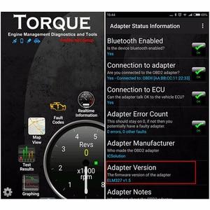Image 5 - 2021 OBD2 ELM327 Bluetooth V1.5 Auto Code Reader Adapter ELM 327 1.5 Android Torque Diagnostic Scanner ODB2 for Car Diagnostics