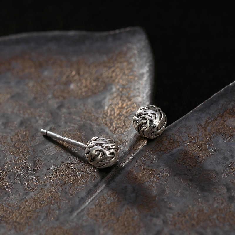 BALMORA 925 فضة القديمة النسيج الكوبية وأقراط للنساء سيدة هدية أنيقة ريترو لطيف مجوهرات الأزياء Brincos