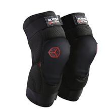 Scoyco 2 предмета Регулируемая Колено Протектор ce колено guard общего пользования 2 размера Moto спортивные наколенники защитное снаряжение