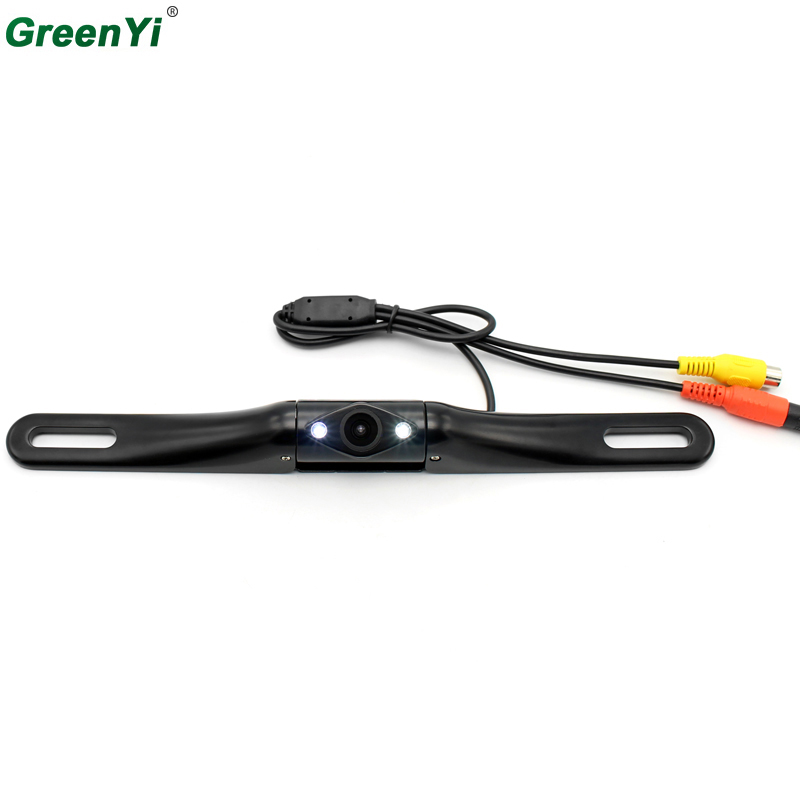 все цены на GreenYi E354 10PCS Wide Angle HD CCD Normal Image Car Rear View Camera With Mirror Image Convert Line Backup Reverse Camera онлайн