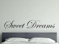 Large Size Lettering Words Sweet Dreams Vinyl Wall Stickers , Sweet Dreams Quotes Wall Decals For Bedroom Decor Free Shipping