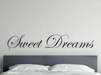 Large Size Lettering Words Sweet Dreams Vinyl Wall Stickers , Sweet Dreams Quotes Wall Decals For Bedroom Decor Free Shipping 1