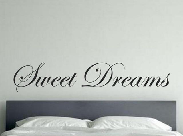 Große Größe Beschriftungs wort Sweet Dreams Wandaufkleber, süße ...