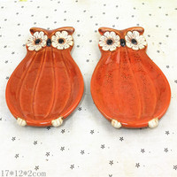 European - style pumpkin Owl Decoration Creative Plates home boutique Decoration fashion creative gifts bj0125