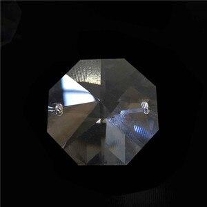 Image 4 - 10000 قطعة/الوحدة 14 مللي متر كريستال الخرز المثمن مع 2 ثقوب شفافة اللون شحن مجاني