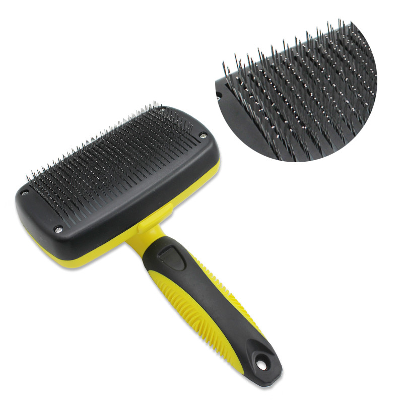 Pet Grooming Brush Comb Furmins Dog Self Cleaning Slicker Brush for Small Large Dog Cat Short Long Hair in Dog Combs from Home Garden
