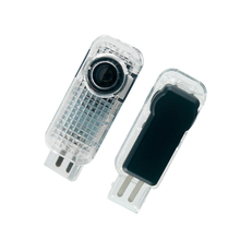 цена на 2pcs Welcome Light Door Light for Car Audi A6 C6 Sline A3 B6 B8 B5 C5 Q7 Q5 TT A1 A4 A7 A8 S3 S4 S5 S6 S7 S8 RS R8 Ghost Light