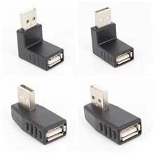 Левый/правый/ниже/выше угол 90 градусов USB 2,0 A мужской женский разъем адаптера для портативных ПК долговечность и стабильная производительность