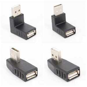 Left/right/below/above angle 90 degree USB 2.0 A Male Female Adapter Connecter