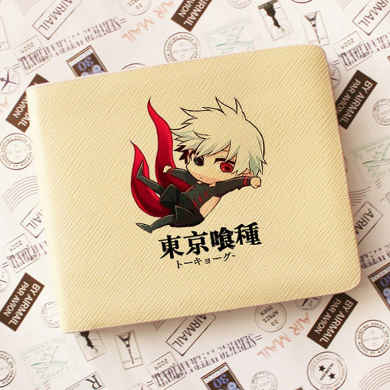 New Tokyo Ghoul Wallets Cartoon Ken Kaneki Purse Fashion Design Attack on Titan PU Leather Card Holder Bag for Students new tokyo ghoul kaneki ken messenger bag anime school bags for teenagers children boys grils 3d cartoon shoulder bags