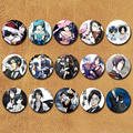 58MM Black Butler Ciel Phantomhive Sebastian Michaelis cosplay Badge Pin BUTTONS Anime Collections icon For Clothes Hat Backpack