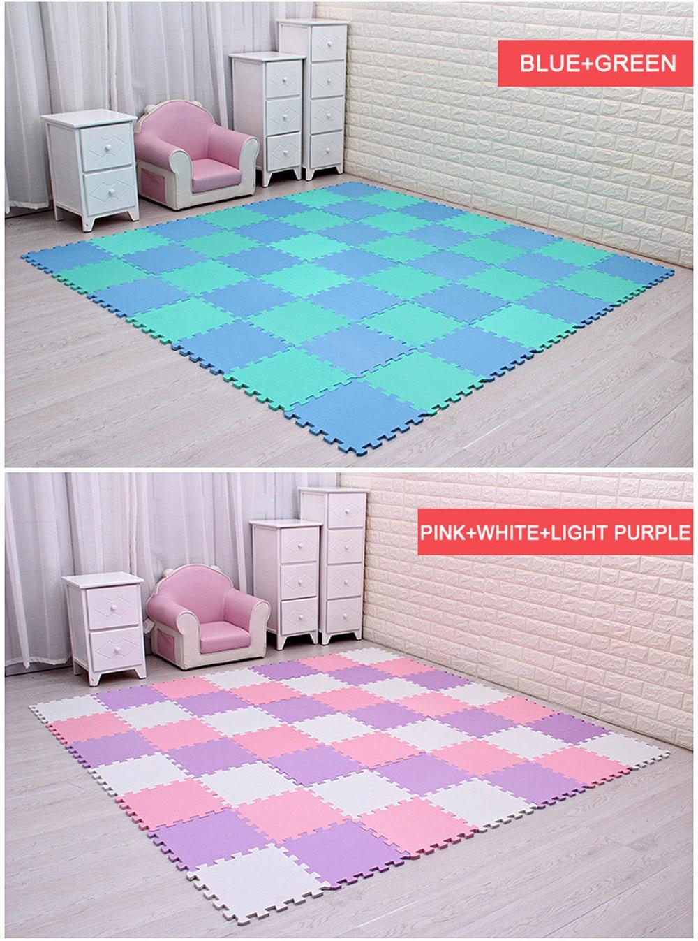 Newest 9/18pcs/set EVA Children's Foam Carpet Mosaic floor Puzzle Carpet Baby Play Mat Floor Developing Crawling Rugs Puzzle Mat
