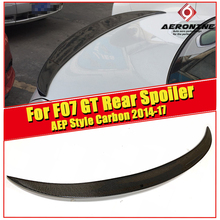 Spoiler extension wing True Carbon fiber P style Fits For BMW F07 GT 5 series 535i 550i 535iGT 550GT Rear 2014-2017