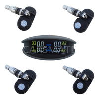 Heißer Verkauf Wireless SPY TPMS Tire Pressure Monitoring System Interne Sensor Mit Bunte LCD Display PSI BAR