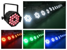 8pcs/lot, LED Par Light 18x18W RGBWA UV 6in1 or 18x15w RGBWA 5in1 or 18x12w RGBW 4in1 Disco KTV Light
