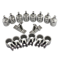 4 Bow 1 Bimini Top Boat Stainless Steel Fittings Marine Hardware Set 16 piece set of SS316 7/8(22mm) 1(25mm)