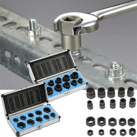 10PCS High Low Nut Removal Socket Tool Damaged Bolt Nut Screw Remover Extractor Removal Set Mayitr