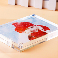 14 8 21CM A5 Magnetic Advertising Tag Sign Card Display Stand Poster Photo Frame Acrylic Table