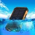 NUEVA Prueba de Agua Solar Li-polímero Banco de la Energía 10000 mah Dual USB Powerbank Viajes Cargador de Batería Solar para todos los teléfonos