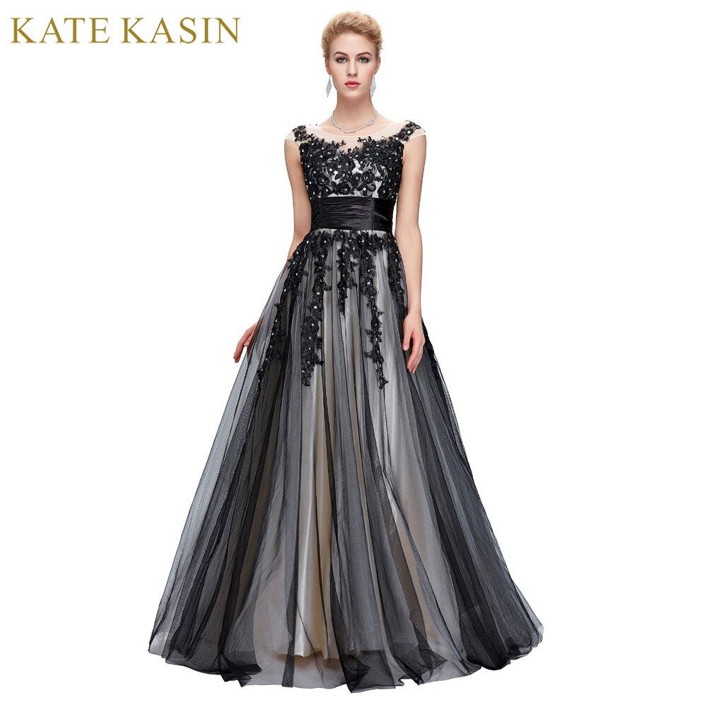 Robe de Soiree Longue Sexy Lace Applique   Evening     Dresses   Long Ball Gown Luxury Black   Evening     Dress   for Women 2017 Cap Sleeve