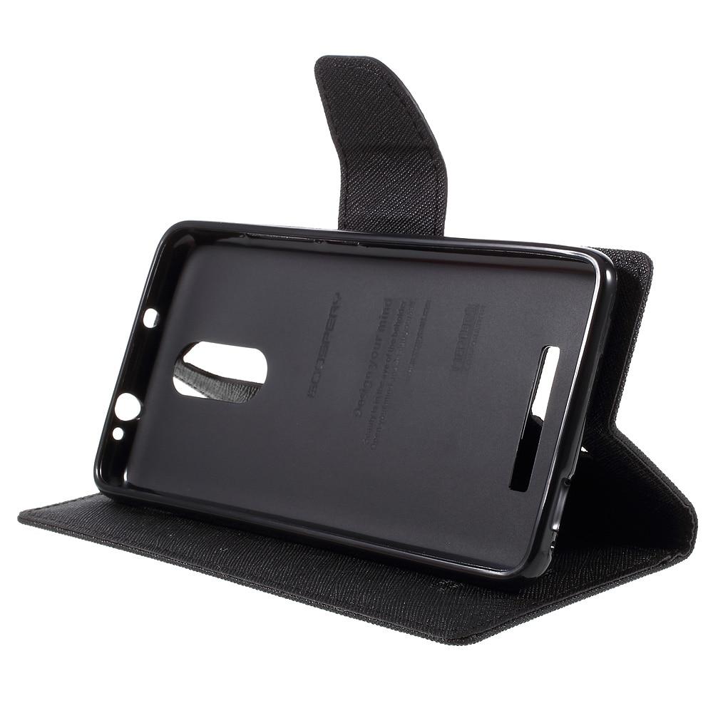 Mercury Goospery Contrast Color Leather Flip Case For Xiaomi Redmi Mi 6 Canvas Diary Black Note 3 Pro Wallet Stand