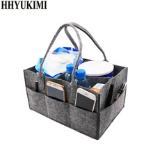 цена Women Makeup Organizer Felt Cloth Insert Bag Travel Multi-pockets Cosmetic Bag Multifunctional Storage Baby Diaper Wet Mommy Bag в интернет-магазинах