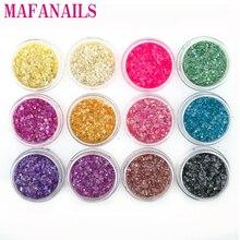 12Colors Acrylic Irregular Shape Tiny Shell Fragments Powder For Epoxy Resin Molds Jewelry Made Nail Art Glitter CFB0934T5