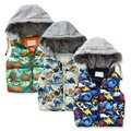 New Arrival High Quality Vest Baby Boys Winter Hooded Waistcoat Kids Winter Warm Vest Child Character Fleece Thicken Waistcoat
