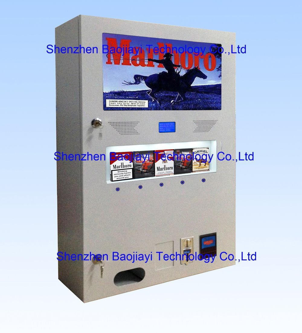 small cigarette(box) vending machine BJY-B50 with light box small condoms vending machine with coins acceptor with 5 choices