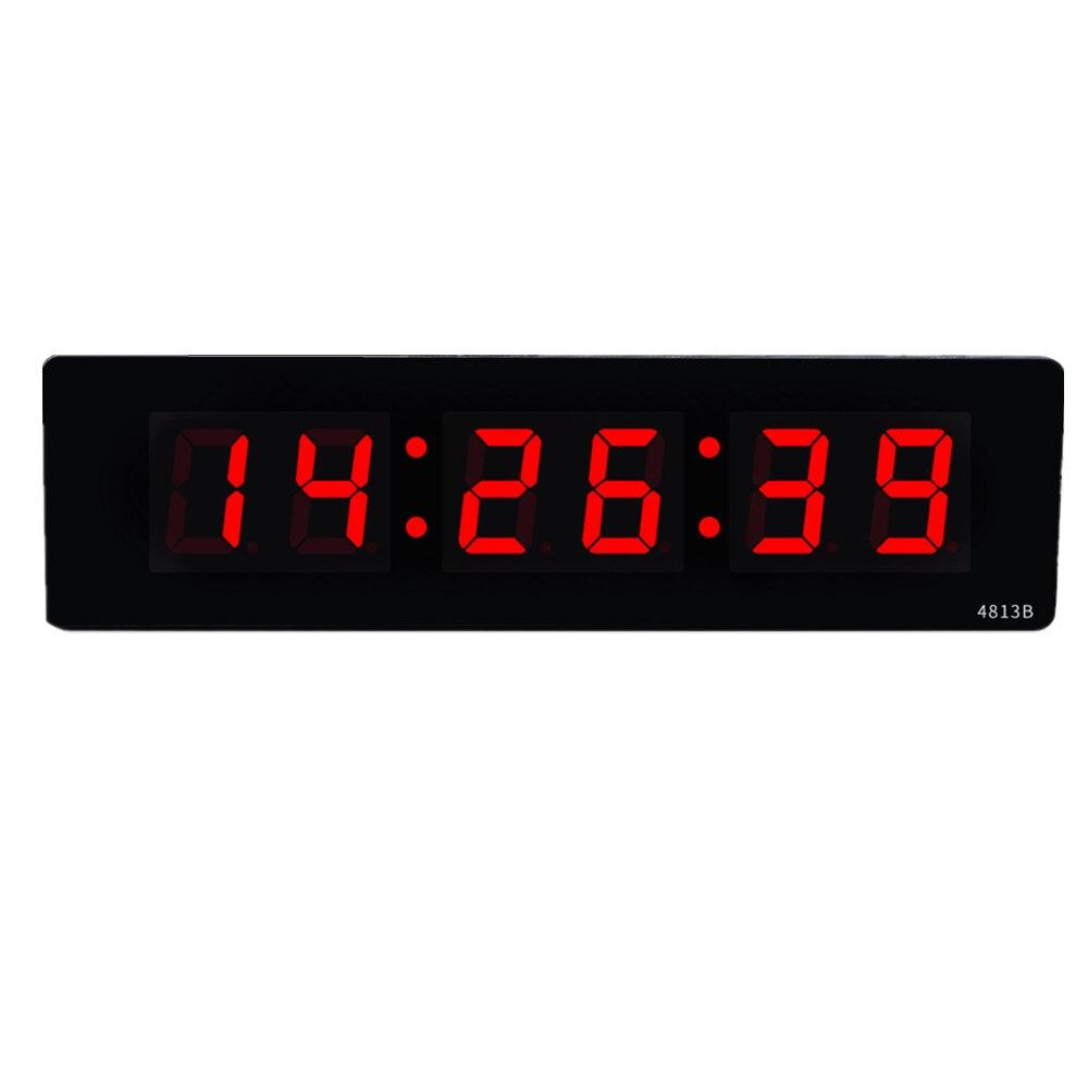 Ev ve Bahçe'ten Duvar Saatleri'de Oturma odası Elektronik dijital LED duvar saati Aydınlık sessiz masaüstü saat Basit zaman ekran büyük duvar saati ev Plug in saat'da  Grup 1