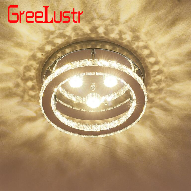 Led K9 Crystal Chandelier Lighting for Bedroom Kitchen Cricle Ceiling Lamps Cristal Lustres 110V-220V Chandeliers Lights FixtureLed K9 Crystal Chandelier Lighting for Bedroom Kitchen Cricle Ceiling Lamps Cristal Lustres 110V-220V Chandeliers Lights Fixture