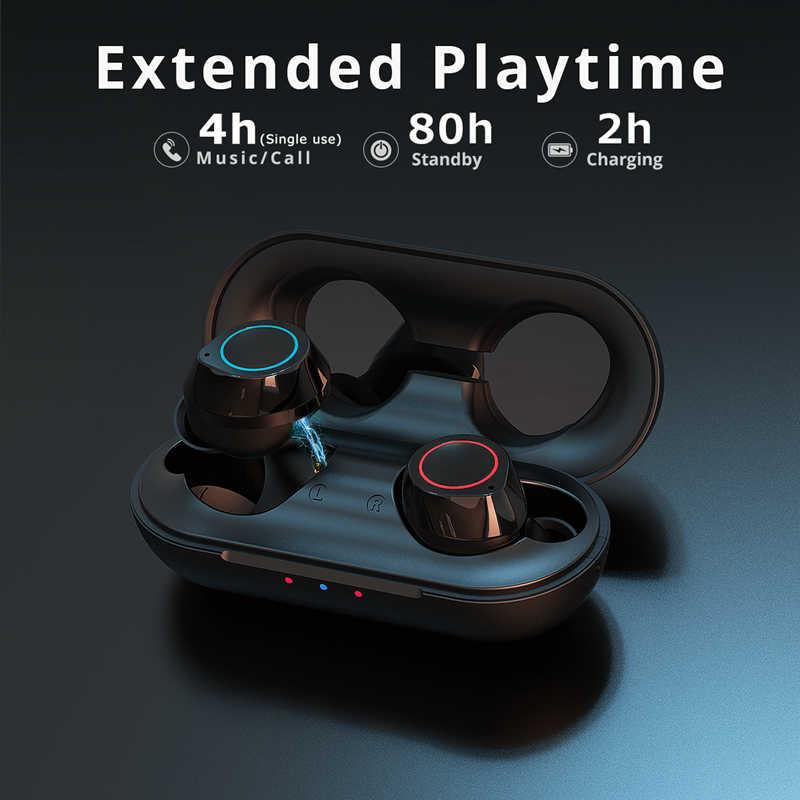 Langsdom T20 TWS 5.0 Bluetooth słuchawki bezprzewodowe słuchawki do telefonu Sport prawdziwe bezprzewodowe wkładki douszne stereofoniczny zestaw słuchawkowy z mikrofonem
