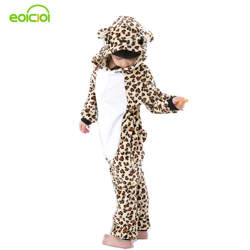 Фланелевые пижамы с рисунками животных Onesie детские пижамы теплые животные  Дети Девочки Мальчики леопардовые детские пижамы ночное белье купить на ... b9e04eb8b486e