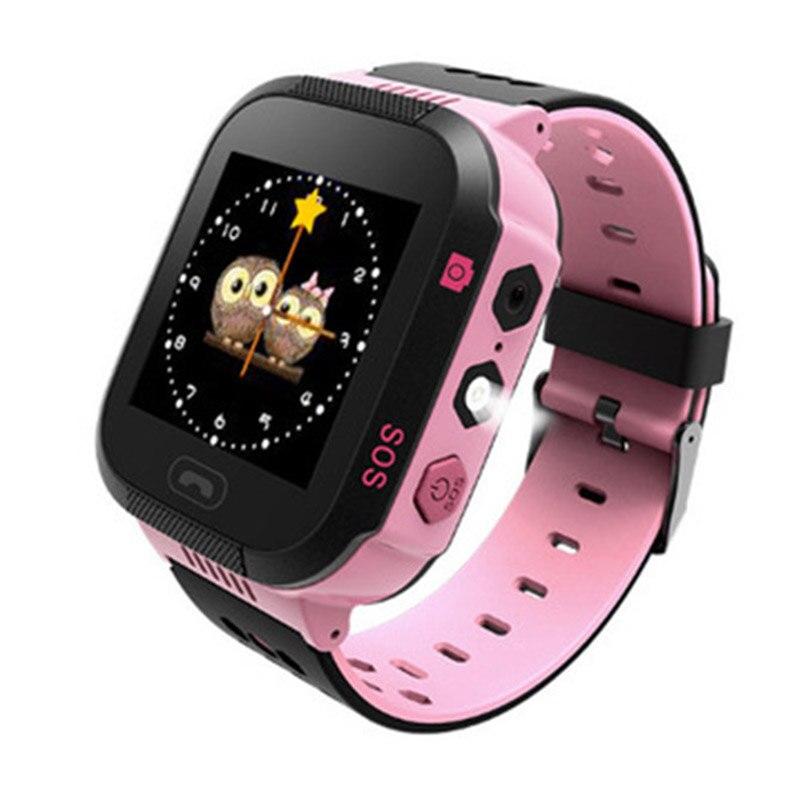 Smart Montres Enfants Filles Soutien Sim Carte LBS Smartwatch Nuit Lumière Tactile Écran Anti-perdu SOS À Distance Moniteur pour IOS Android