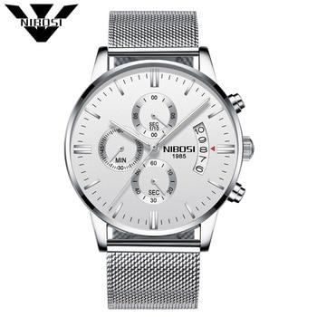 3fe4f44d6fee Hombres reloj de marca de lujo NIBOSI moda relojes ejército militar relojes  de pulsera de cuarzo analógico Relogio Masculino