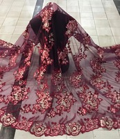2017 Latest African Tulle Lace Fabric High Quality African lace material For Nigerian Women