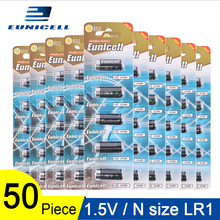 50PCS 1.5V N Size Alkaline duty Battery Primary and Dry Batteries LR 1 AM5 E90 MN9100 for Toys; 10 Cards 600mAh LR1