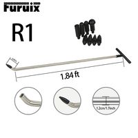 FURUIX 1pc Newly Design PDR Rods Tools Hook Tools Push Rod with 8 pcs tap down heads (R1)