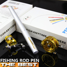 Set/Combo 1.4m Carbon Mini Telescopic Fishing Rod With Two Fishing reel Pen Fishing Rod Metal Fly reel Metal Baitcasting Reel