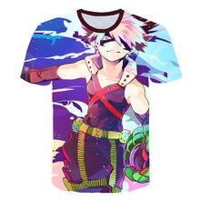 New 3D Print Women Men Anime Boku No Hero Academia Tshirt Summer T-shirt Hip Hop Pullover Casual Short Sleeve High Street