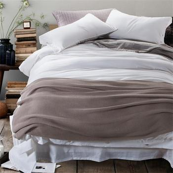 Solid Color White Red Blue Green Brown Bedding Set Queen King Size Cotton Linen Fabric Duvet Cover Bed Sheets Pillow Case