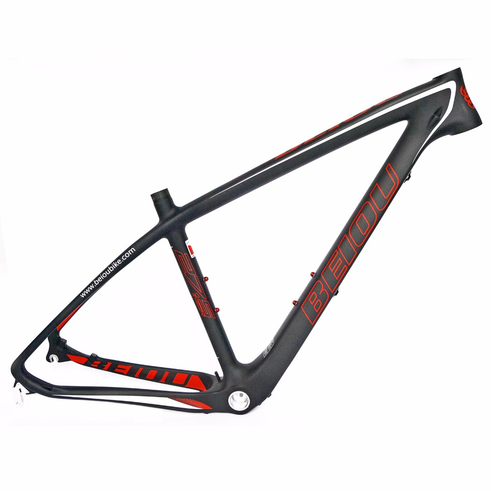 BEIOU 3k Carbon Fiber Mountain Bike Frame 27.5-Inch Matte Unibody Internal Cable Routing T800 Ultralight MTB B020