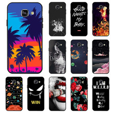 Ojeleye Fashion Black Silicon Case For Samsung Galaxy A3 2016 Cases Anti-knock Phone Cover For Samsung A3 2016 A310F Covers стоимость