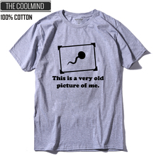 COOLMIND QI0269A 100% cotton short sleeve funny men T shirt casual o-neck loose o-neck men t-shirt knitted tshirt tee shirt