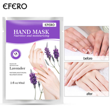 EFERO Mositurizing Hand Mask Whitening Exfoliating Hands Beauty Anti-Drying 1 Pair Lavender Fragrance Hand Mask for Tender Hand